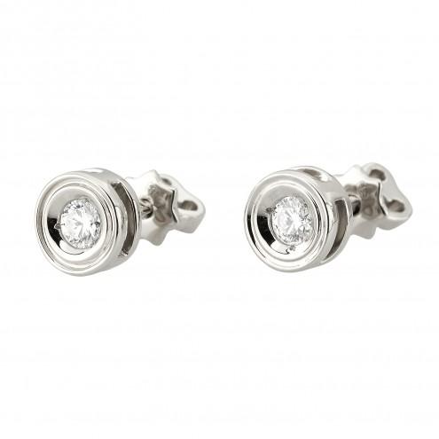 Сережки з 1 діамантом 922-1240