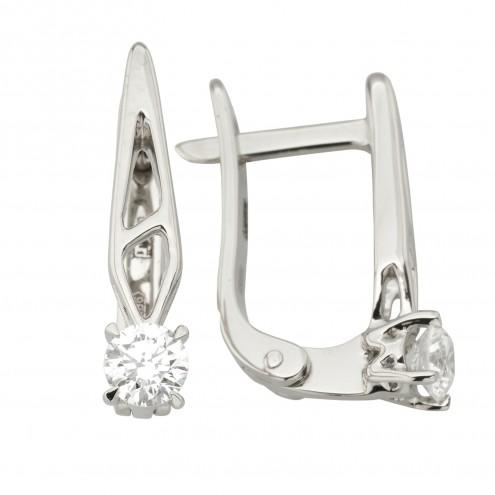 Сережки з 1 діамантом 922-1244