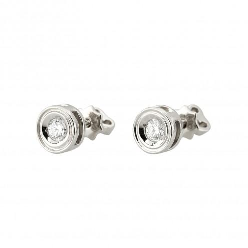 Сережки з 1 діамантом 922-1258