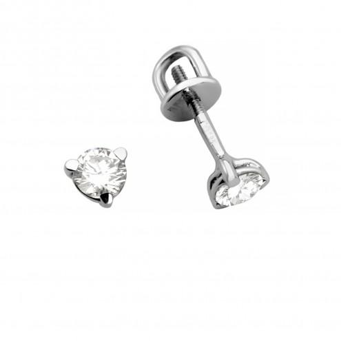 Сережки з 1 діамантом 922-1396