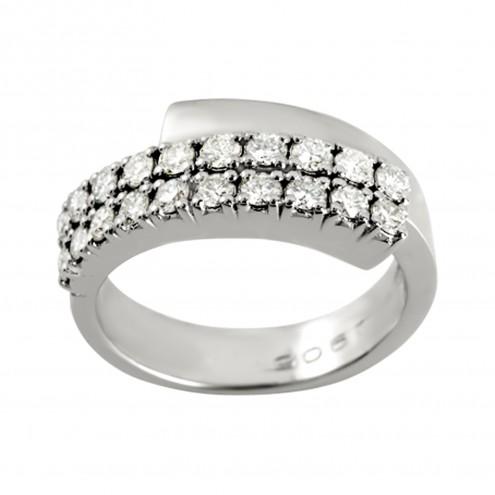 Каблучка з декількома діамантами 941-0476