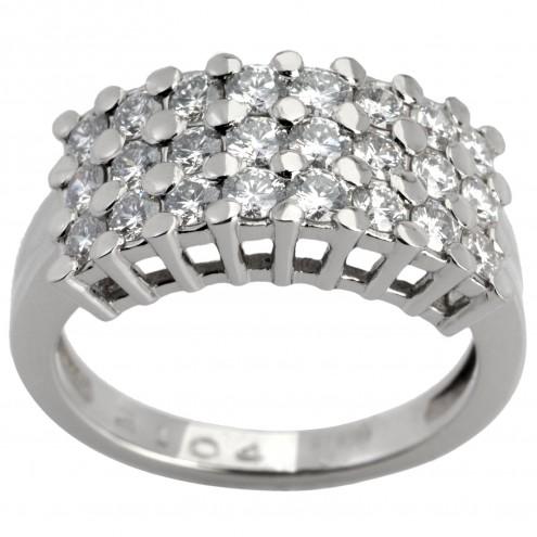 Каблучка з декількома діамантами 941-0496