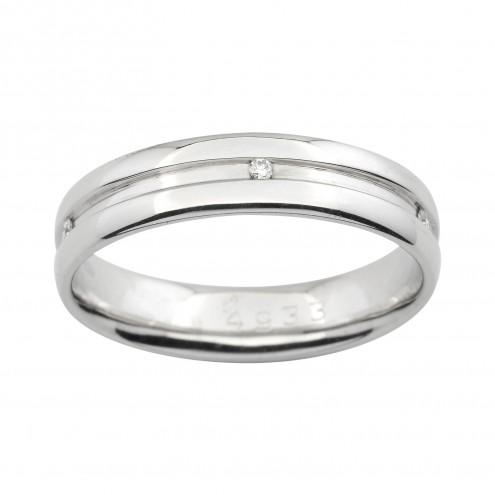 Обручка з декількома діамантами 941-0909