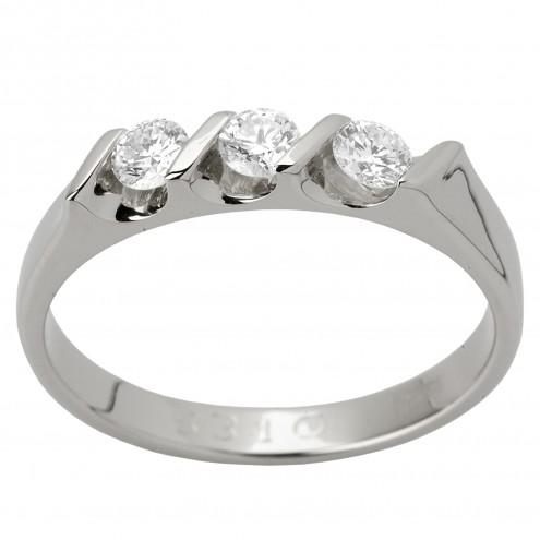 Каблучка з декількома діамантами 941-1034