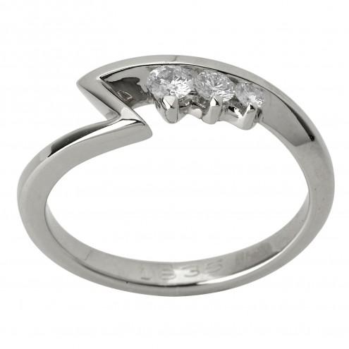 Каблучка з декількома діамантами 941-1226