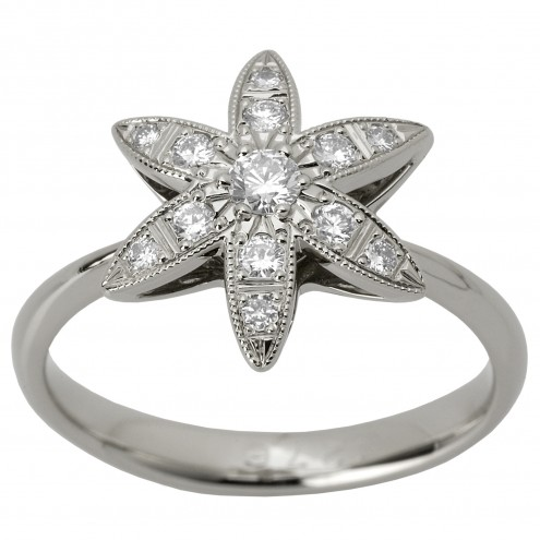 Каблучка з декількома діамантами 941-1228