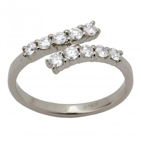 Каблучка з декількома діамантами 941-1263
