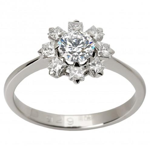 Каблучка з декількома діамантами 941-1337.01