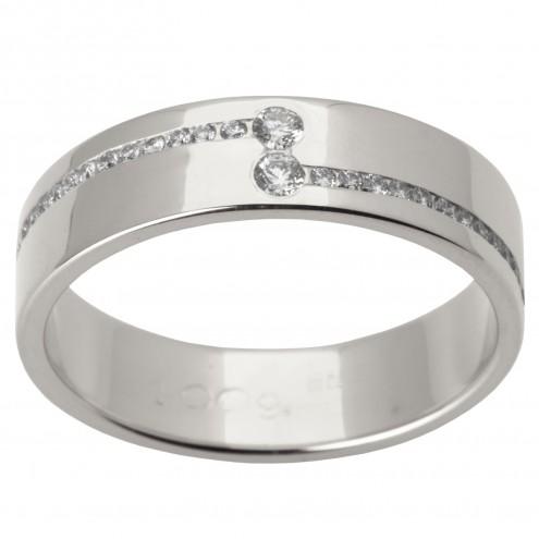 Обручка з декількома діамантами 941-1505