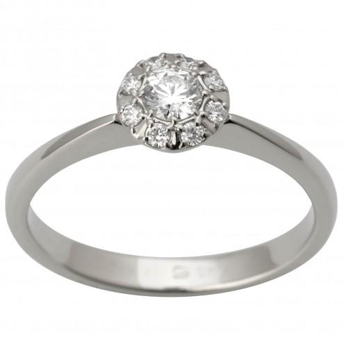 Каблучка з декількома діамантами 941-1592