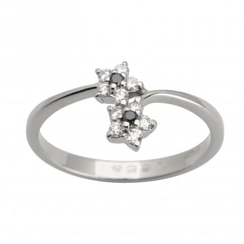 Каблучка з декількома діамантами 941-1616