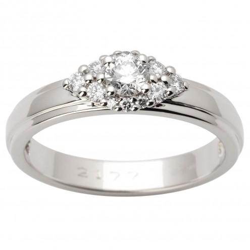 Каблучка з декількома діамантами 941-1634
