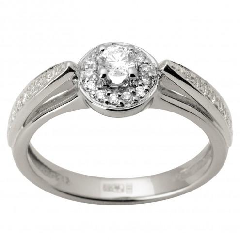 Каблучка з декількома діамантами 941-1638