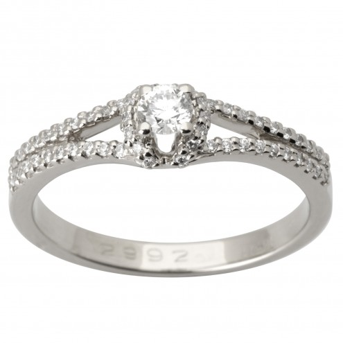 Каблучка з декількома діамантами 941-1671