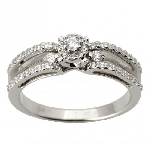 Каблучка з декількома діамантами 941-1699