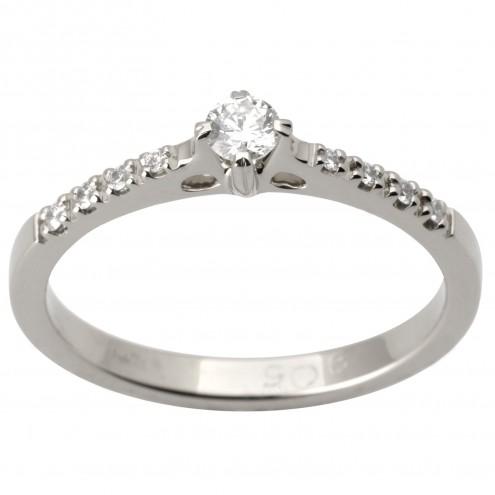 Каблучка з декількома діамантами 941-1724