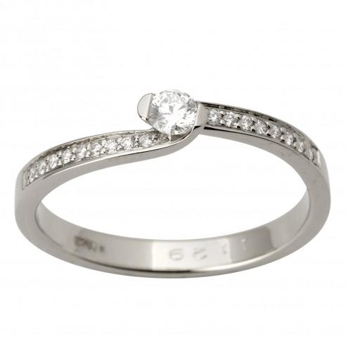 Каблучка з декількома діамантами 941-1738