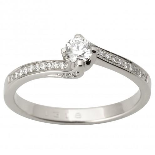 Каблучка з декількома діамантами 941-1744