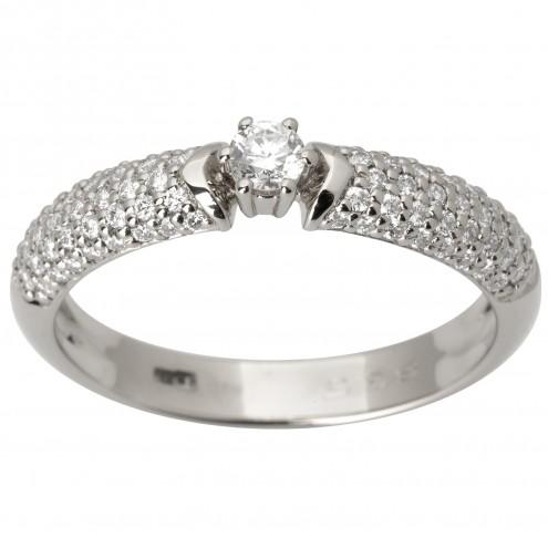 Каблучка з декількома діамантами 941-1804