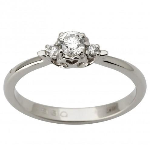 Каблучка з декількома діамантами 941-1814