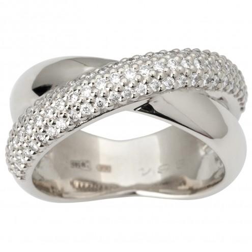 Каблучка з декількома діамантами 941-1830