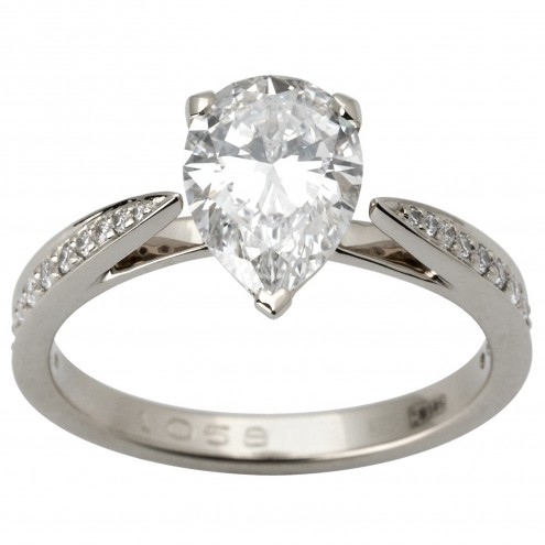 Каблучка з декількома діамантами 941-1836