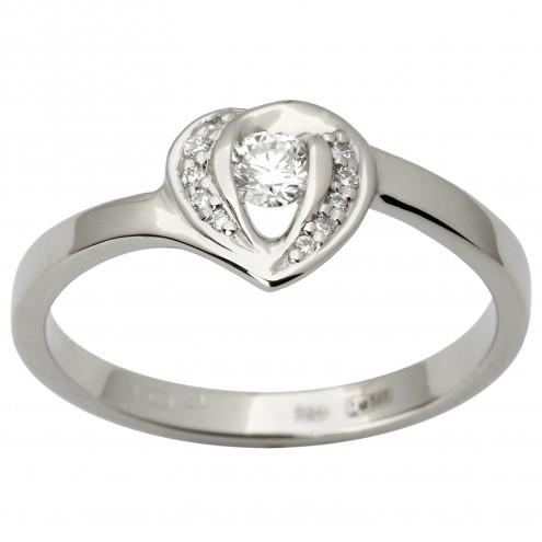 Каблучка з декількома діамантами 941-1856