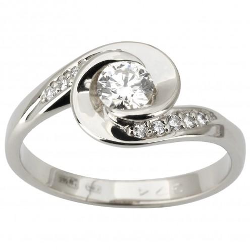 Каблучка з декількома діамантами 941-1860