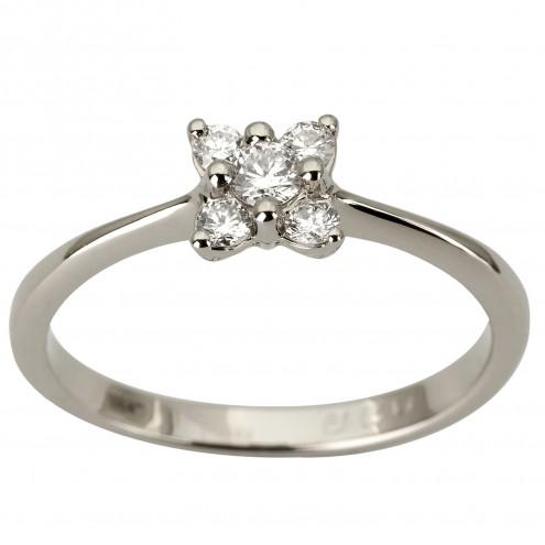 Каблучка з декількома діамантами 941-1875