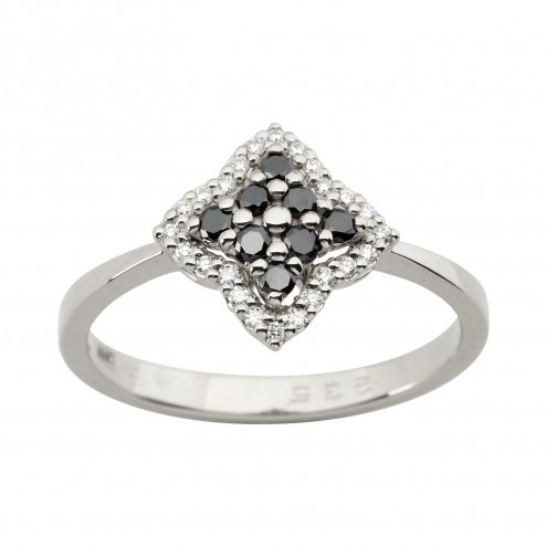 Каблучка з декількома діамантами 941-1907