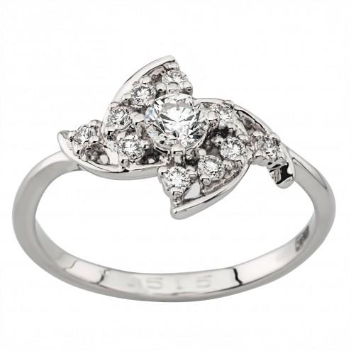 Каблучка з декількома діамантами 941-1978