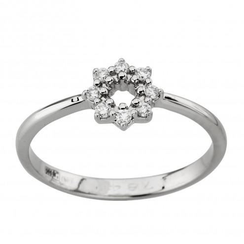 Каблучка з декількома діамантами 941-2005