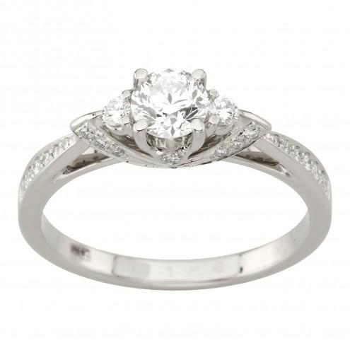 Каблучка з декількома діамантами 941-2021