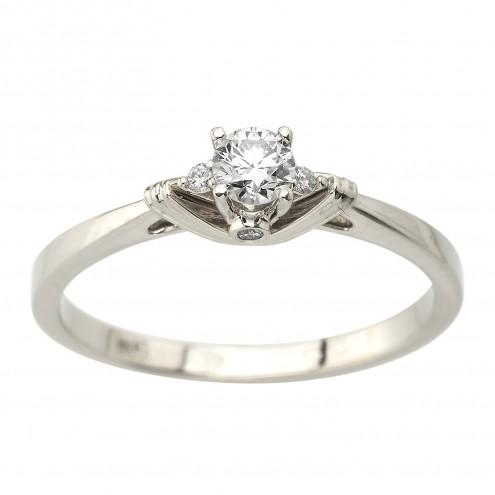 Каблучка з декількома діамантами 941-2079