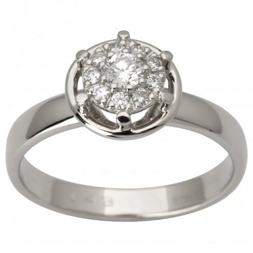 Каблучка з декількома діамантами 941-3002