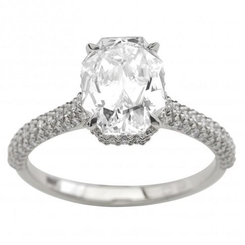 Каблучка з декількома діамантами 941-3046