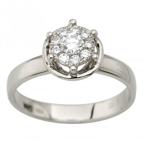 Каблучка з декількома діамантами 941-4016