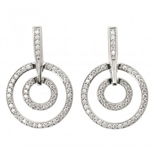 Сережки з декількома діамантами 942-0707
