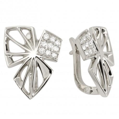 Сережки з декількома діамантами 942-0860
