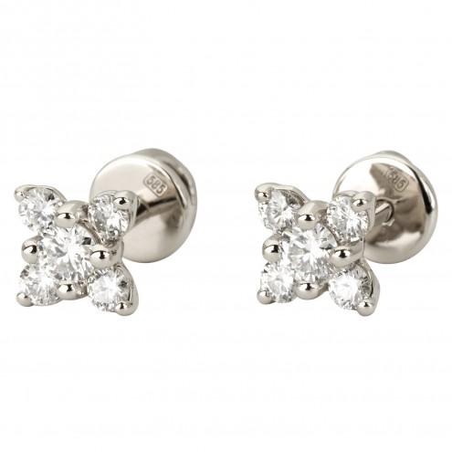 Сережки з декількома діамантами 942-1134