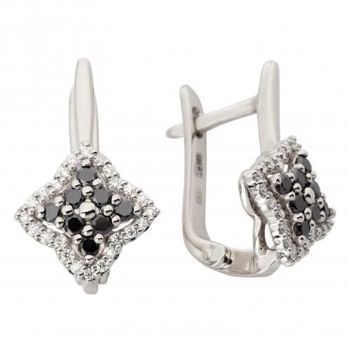 Сережки з декількома діамантами 942-1163