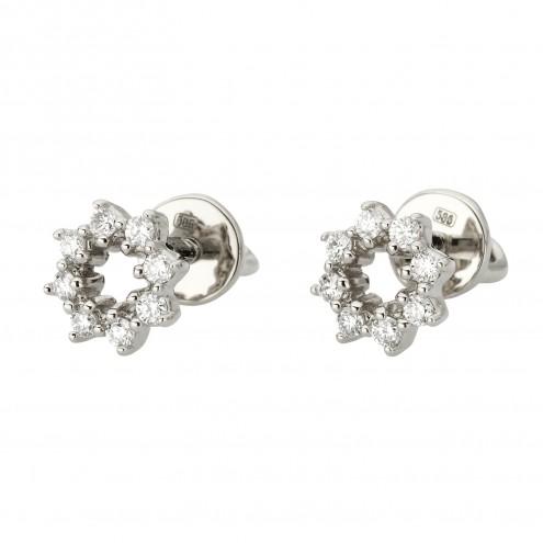 Сережки з декількома діамантами 942-1245