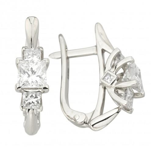 Сережки з декількома діамантами 942-1255
