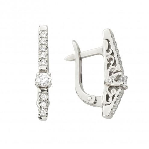 Сережки з декількома діамантами 942-1343