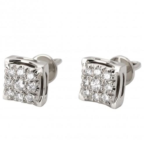 Сережки з декількома діамантами 942-2001