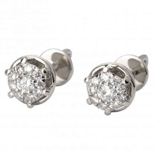 Сережки з декількома діамантами 942-2007