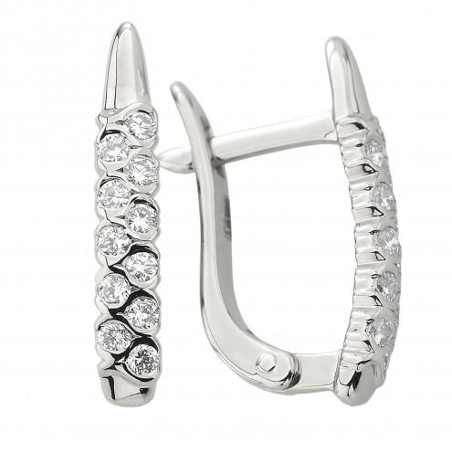 Сережки з декількома діамантами 942-2008
