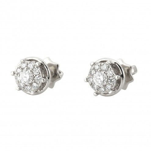 Сережки з декількома діамантами 942-2020