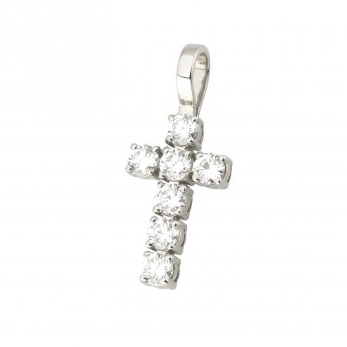 Хрест з декількома діамантами 949-4007