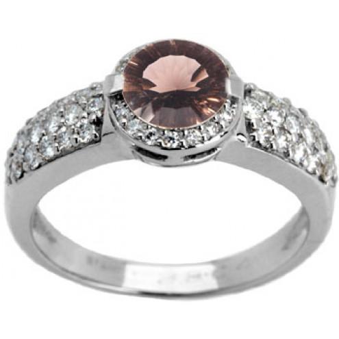 Каблучка з діамантами та кольоровим камінням 981-0586